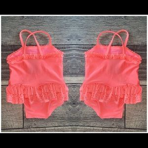 BABY GIRL NEON SWIMSUIT 🌺 SIZE 2-6 M (H&M)